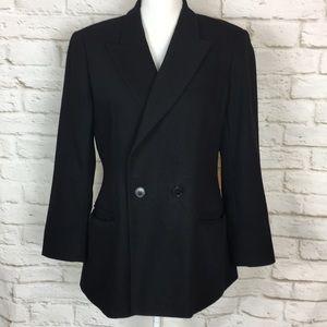Giorgio Armani Le Collezioni Black Wool Blazer 10